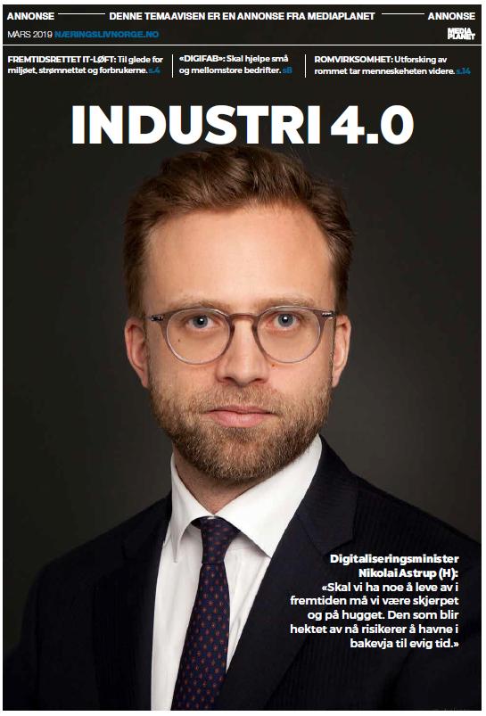 Forside Industri 4.0, Finansavisen, bilag, DigiFab